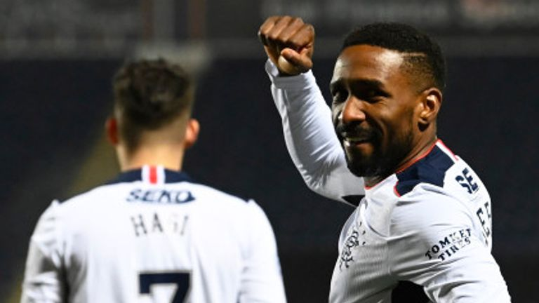 Jermain Defoe opened the scoring for Rangers in the Betfred Cup