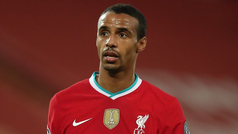 Joel Matip returns to the Liverpool squad for the visit of Ajax