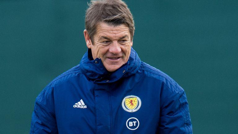 EDINBURGH, SCOTLAND - OCTOBER 10: Coach John Carver  during a Scotland training session at the Oriam, on October 10, 2020, in Edinburgh, Scotland. (Photo by Ross Parker / SNS Group)