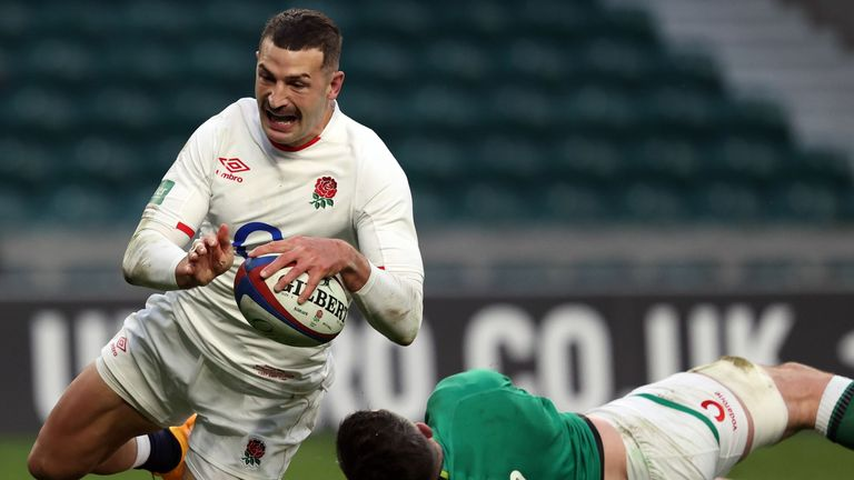 Jonny May has been backed by Eddie Jones to break Rory Underwood's try record