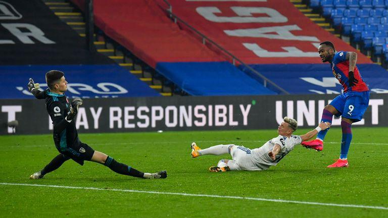 Jordan Ayew takes Wilfried Zaha's pass to tuck home Palace's fourth