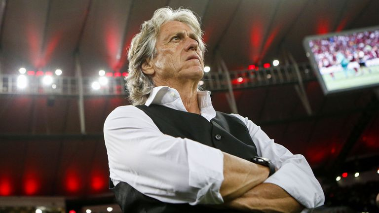 Jorge Jesus during his time in charge of Flamengo