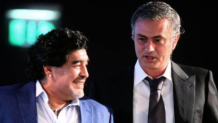 Jose Mourinho says he will deeply miss his friend Diego Maradona