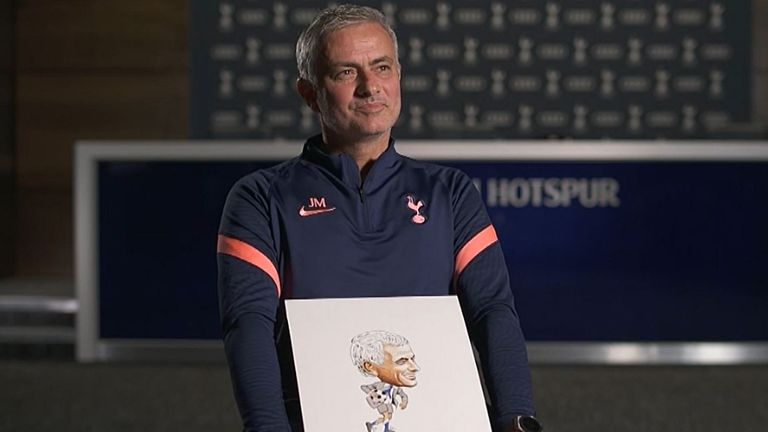 Jose Mourinho reflects on his first year at Tottenham and looks at some artworks representing the most memorable moments.