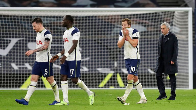 Harry Kane was worked into the ground by Mourinho on Saturday night