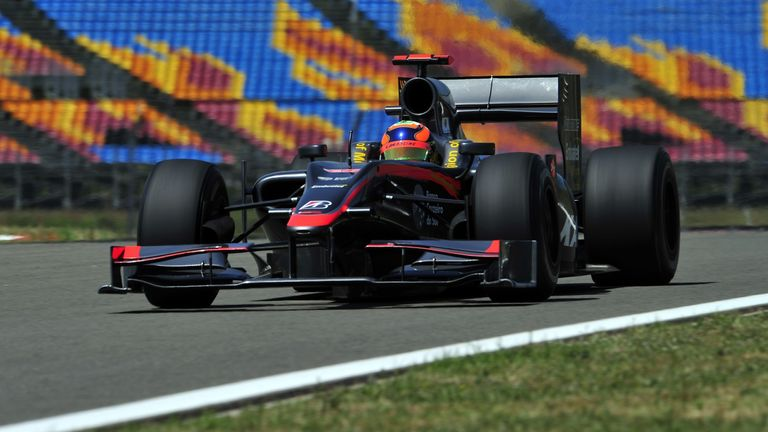 Karun driving for the Hispania team during the 2010 Turkish GP weekend