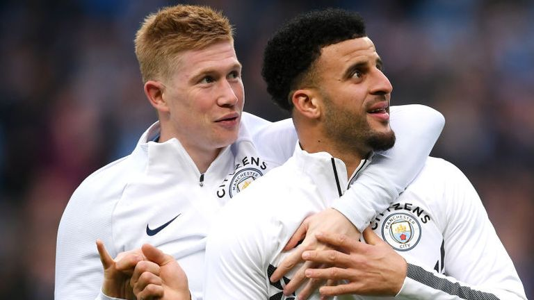 Kevin De Bruyne has praised Manchester City team-mate Kyle Walker for his reliability and consistency
