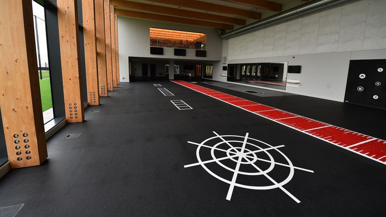 The gym in Liverpool's new training centre