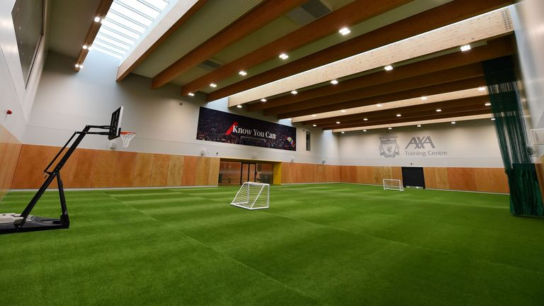 Indoor sports hall at Liverpool's new training centre