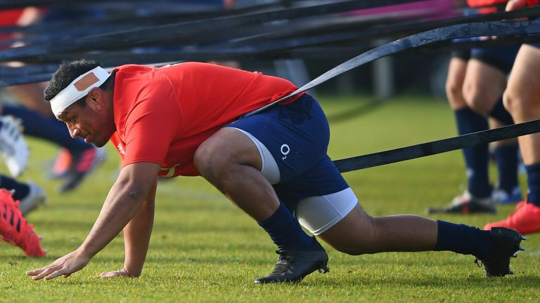 Mako Vunipola (pictured) and Kyle Sinckler return at loosehead and tighthead respectively