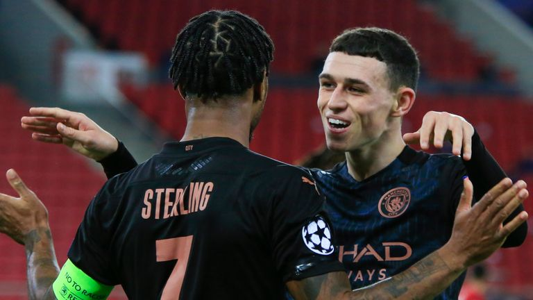 Olympiakos 0-1 Man City: Phil Foden fires City into Champions League last 16 | Football News | Sky Sports