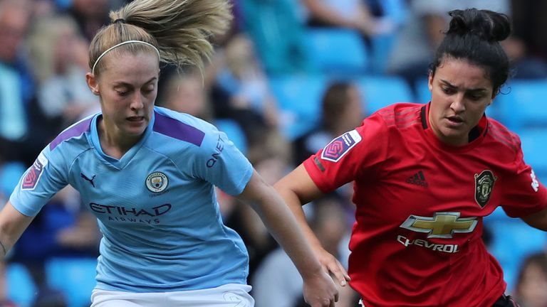 Man Utd and Man City's first WSL meeting was played in front of a then-record crowd