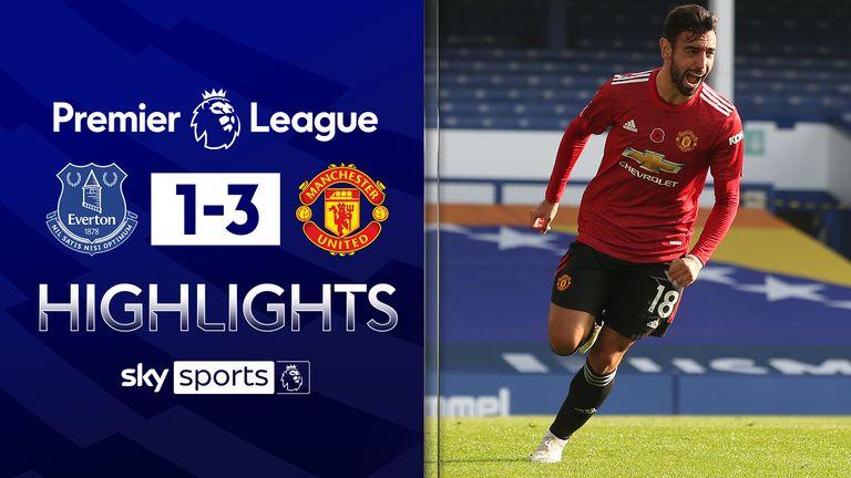 Everton 1 3 Man Utd Match Report Highlights