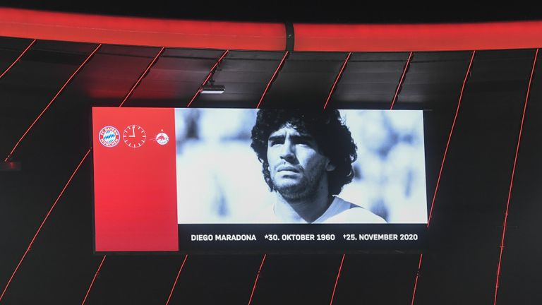 Bayern Munich pay tribute to Diego Maradona