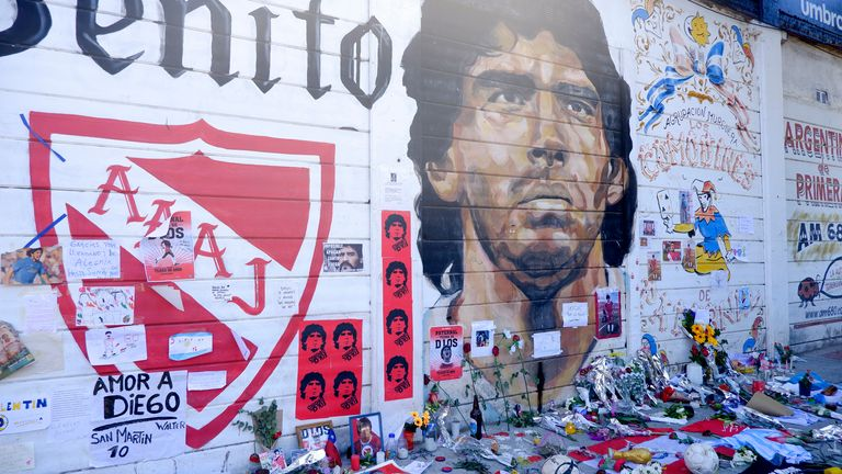 Thousands of people paid tribute to Diego Maradona as he was laid to rest.