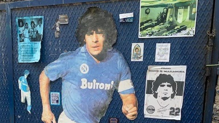 Maradona in Naples