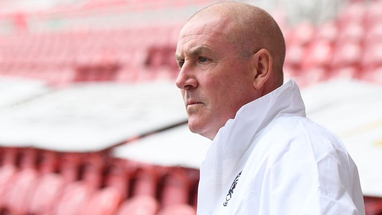Mark Warburton, manager of Queens Park Rangers, looks on ahead of the Sky Bet Championship match between Middlesbrough and Queens Park Rangers at Riverside Stadium on July 05, 2020 in Middlesbrough, England. (Photo by George Wood/Getty Images)