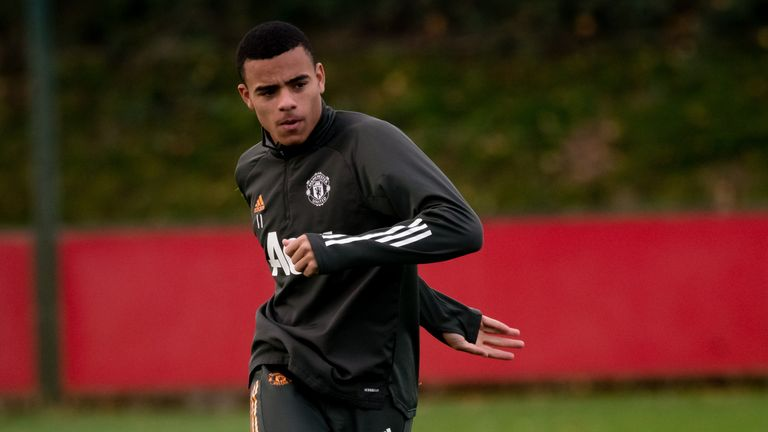 Manchester United striker Mason Greenwood has not trained for nine days due to illness