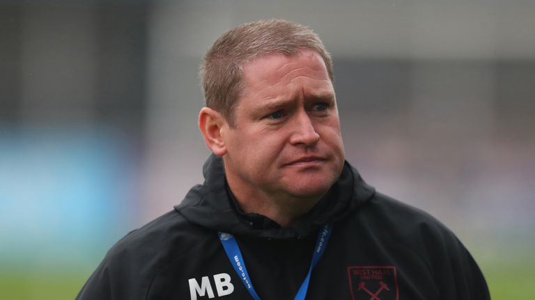 Matt Beard manager of West Ham United ahead of the Barclays FA Women's Super League match between Birmingham City Women and West Ham United Women at Damson Park on November 08, 2020 in Solihull, England.