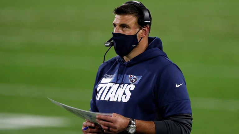 Mike Vrabel is hoping to get the Titans to 10 wins for the first time since 2008