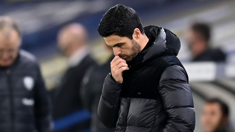 Mikel Arteta has labelled Nicolas Pepe 'unacceptable' after his red card vs Leeds