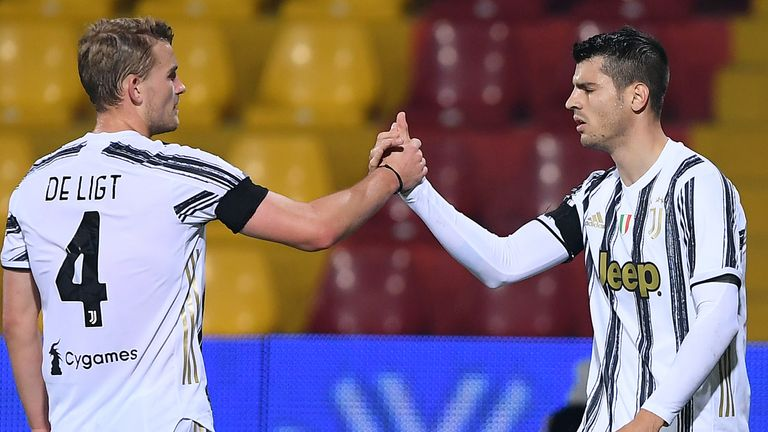 Alvaro Morata's stoppage-time equaliser salvaged Juventus a point at Benevento