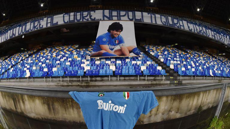 Napoli paid tribute to former player Diego Maradona