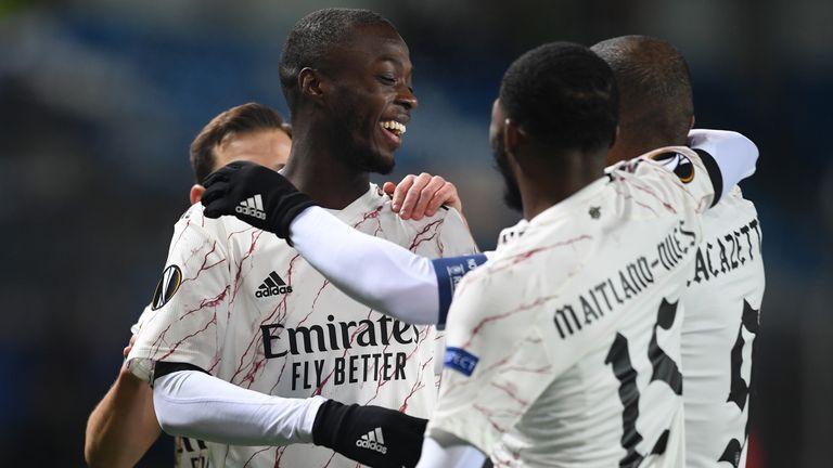 Nicolas Pepe curled home Arsenal's opener