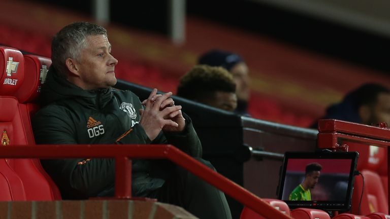 Ole Gunnar Solskjaer pictured during Manchester United's 1-0 win over West Bromwich Albion