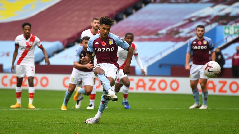 Ollie Watkins scores for Villa from the spot