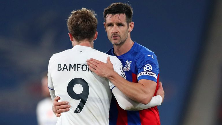 Bamford was left aggrieved after his goal was ruled out for offside