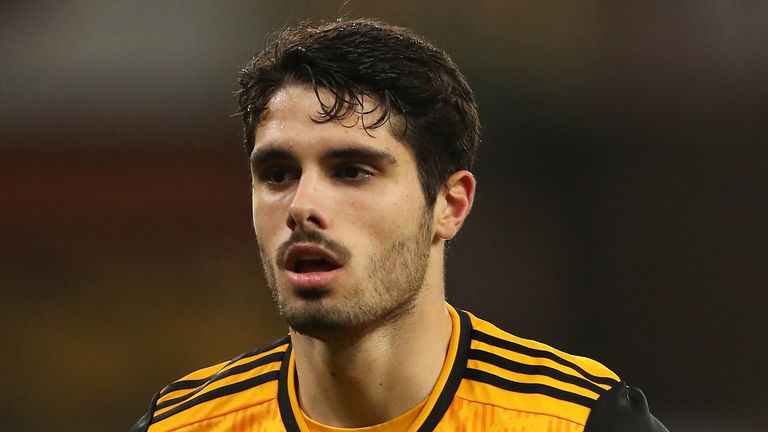 Pedro Neto of Wolverhampton Wanderers during the Premier League match between Wolverhampton Wanderers and Crystal Palace at Molineux on October 30, 2020 in Wolverhampton, United Kingdom. Sporting stadiums around the UK remain under strict restrictions due to the Coronavirus Pandemic as Government social distancing laws prohibit fans inside venues resulting in games being played behind closed doors. (Photo by James Williamson - AMA/Getty Images)