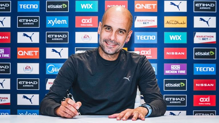 Pep Guardiola has signed a new deal until 2023