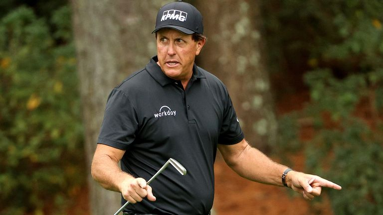 Phil Mickelson is five under halfway through the Masters