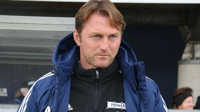 Ralph Hasenhuttl as Aalen boss in 2011