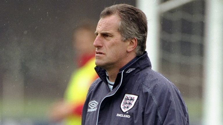 Ray Clemence the assistant coach of the England Football team at training in Bisham Abbey, England. \ Mandatory Credit