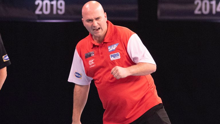 Rob Cross hit the winning dart to send England through to the final