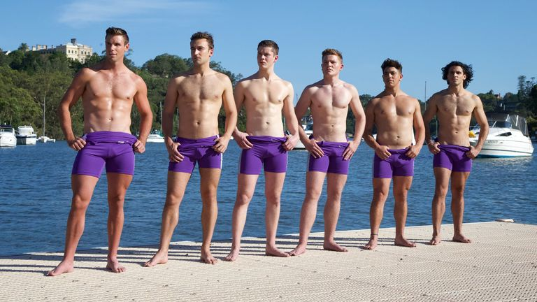 Manson says being involved in the Warwick Rowers shoot in Sydney in 2017 was a 'pretty cool experience'