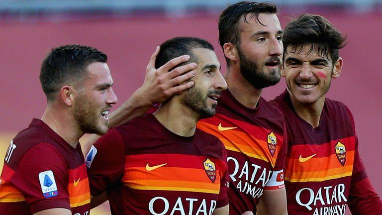 Henrikh Mkhitaryan scored twice for Roma on Sunday