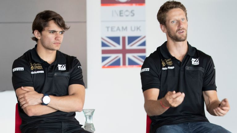 Pietro Fittipaldi (L) has been on Haas' test driver books since 2019 and will replace Romain Grosjean in Bahrain