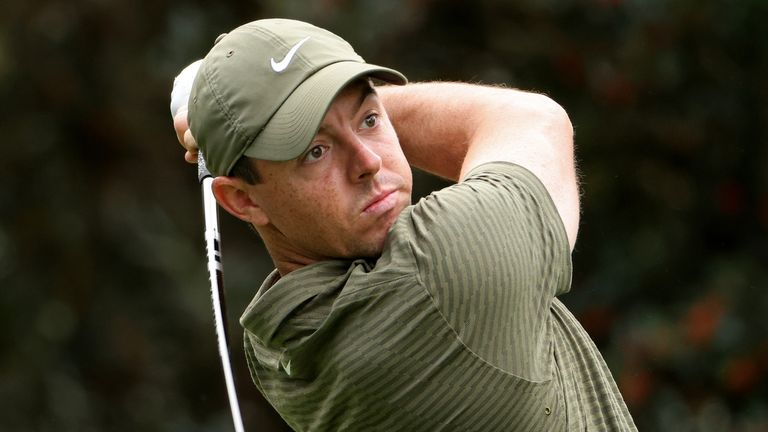 Rory McIlroy is six behind after a second-round 66
