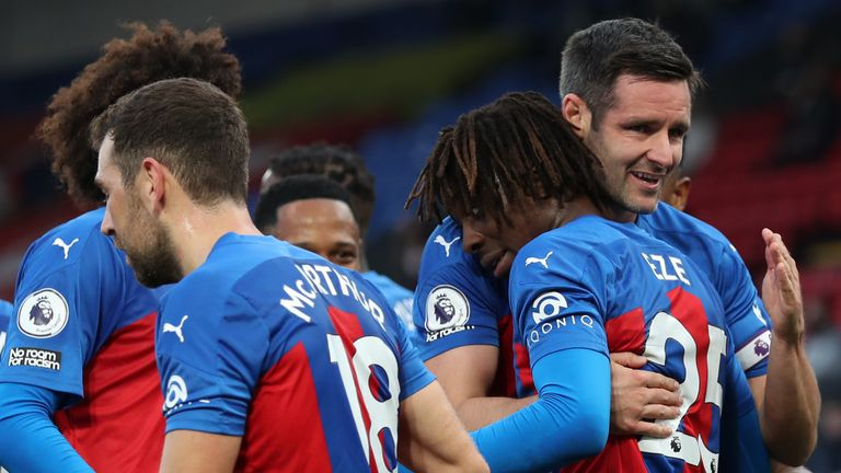 Crystal Palace led 3-1 at the break against Leeds at Selhurst Park