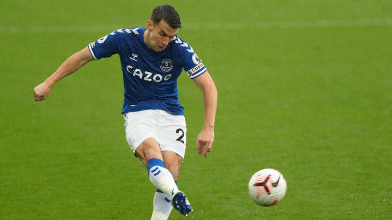 Everton will also remain without Seamus Coleman