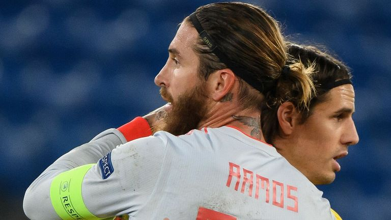 Yann Sommer saved two penalties from Sergio Ramos in their Nations League clash