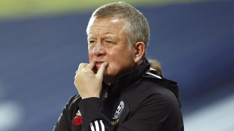 Sheffield United manager Chris Wilder ahead of the game against West Brom