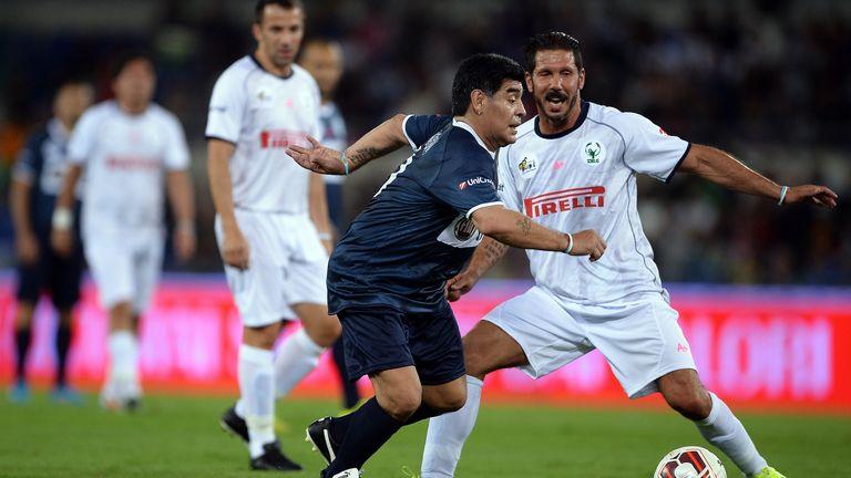 Diego Maradina and Diego Simeone