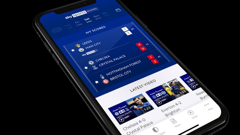 Aplicación Sky Sports Scores