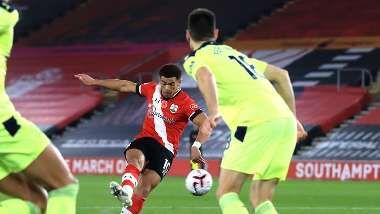 Che Adams rattles in Theo Walcott's cross to put Saints in front