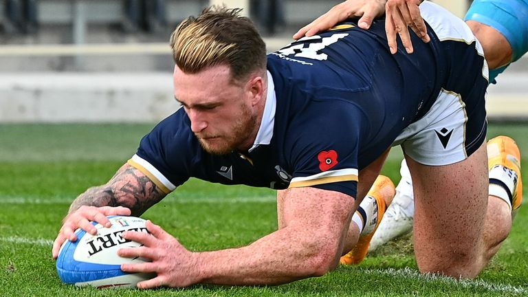 Stuart Hogg admitted it needed some stern words from Gregor Townsend at half-time to fire Scotland up