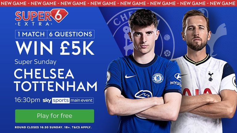 Predict what will happen when Chelsea host Tottenham to scoop the £5,000 prize.